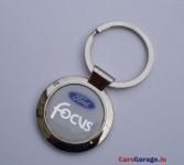 Chrome Key Ring with Acrylic Focus Emblem